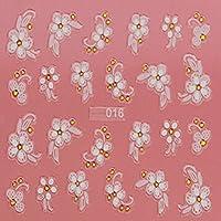 Evtech (TM) 5pc Nail vinile bramato strumento Nail Art 3d farfalle e fiori a forma di cuore Smile Blossom Beautiful Nail Sticker Tatoo