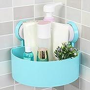Plastic Vacuum Suction Storage Rack,Tuscom No Drill Removable Bathroom Shelf Reusable Kitchen Sink Sponge Stor