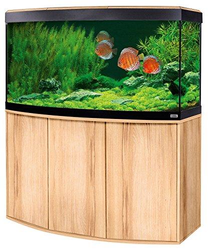 Aquariumkombination Fluval Vicenza 260 mit LED Beleuchtung, Heizer, Filter und Unterschrank Kernbuche