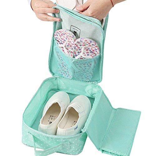 Damara® Unisex Schuhaufbewahrung Aufbewahrungstasche Mit Süß Mustern,Grün Grün