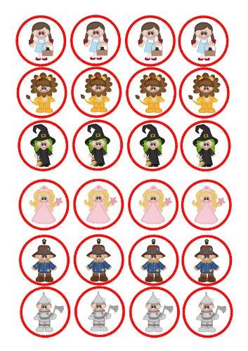 Oz Von Dekorationen Zauberer Der (24 cupcakes, Motiv Der Zauberer von oz 'dorothy Hexe mit dem Motiv Löwe, vorgeschnitten, Reispapier, 4)