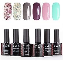 Y & S 6colores Gel de uñas Laca UV LED lámpara manicura 10ml Nail Art Kits