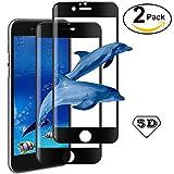 [2 Pièces] Verre Trempé iPhone 6 Plus / 6s Plus,AROYI Film Protection en Verre trempé écran Protecteur iPhone 6s Plus [5D courbé film de protection] Vitre- ANTI RAYURES - SANS BULLES D'AIR -Ultra Résistant Dureté 9H pour iPhone 6 Plus / 6s Plus - Noir