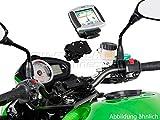 Navi-Halter am Lenker, schwarz, Honda NC700S/X NC750S/X CB650F, Suzuki GSF650/S GSX650F, BMW R1200R