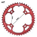 grofitness Aluminium Legierung 44Z Kettenblatt Fahrrad BCD 104Kette Rad, rot