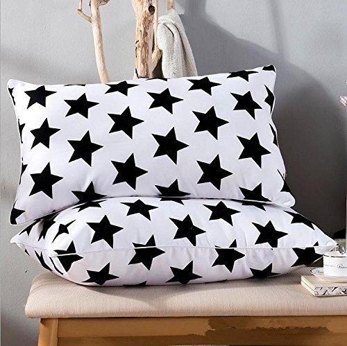 bianco-e-nero-ad-alta-resilienza-confortevole-salute-cervicale-piuma-velluto-cuscino-black-and-white