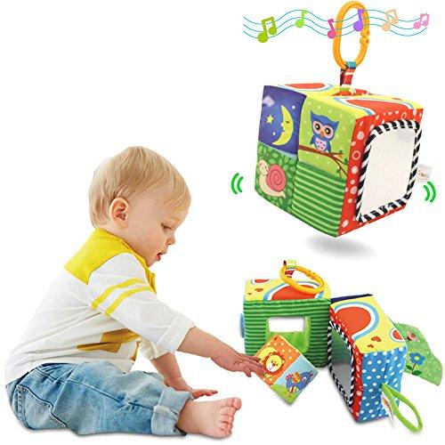 Baby Kleinkindspielzeug Würfel Rasseln Stoffspielzeug Tiere Softwürfel Lustige Fingerspiele Frühkindliche Frühe Erziehung