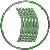 Tunturi-Fitness Hula Hoop Aro para Deportes, Unisex adulto, Verde, 1.2 kg