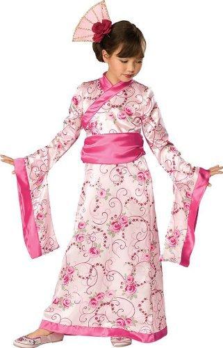 Asian Lustig Kostüm - Karneval bezaubernde Asiatin Kostüm Fasching 3tlg.