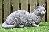 , Katze–Detaillierte aus Stein/Gartenfigur Skulptur