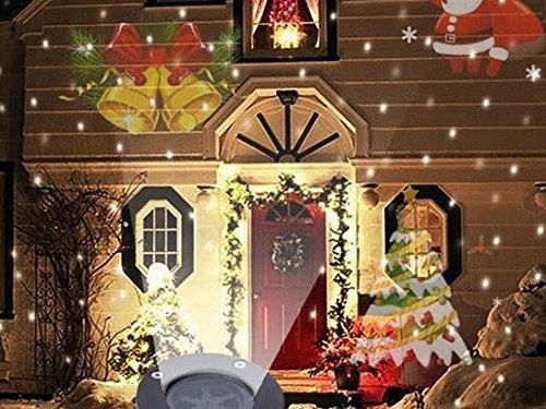 Lucky Goddess Lichter des Weihnachtstraumlandschaft Licht Halloween Projektor 12steht Karte Wasserdicht Halloween Geburtstagsfeier
