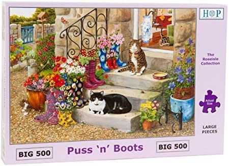 Big 500 Piece Jigsaw Puzzle - Puss 'n' Boots NEW JULY 2015 by The House of Puzzles | Bonne Réputation Over The World