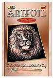 KSG 1019 - Art foglio di rame, artigianato e pittura, leone