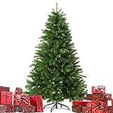 Christmas Künstlicher Weihnachtsbaum Grün Tannenbaum inklusive Christbaumständer H150cm/100 Spitzen/Ø110cm/Weihnachtsdekoration