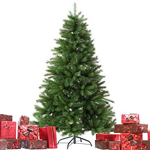 """Christmas Künstlicher Weihnachtsbaum """"Grün"""" Tannenbaum inklusive Christbaumständer H180cm / 100 Spitzen / Ø110cm / Weihnachtsdekoration"""