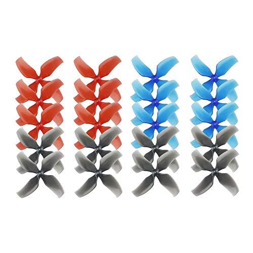 Dilwe RC Propellerblätter, 20 Stück 4 Blatt Propeller Kompatibel mit Tiny 7 / 7X-, Snapper7-, Mobula7- und TRASHCAN-Renndrohnen