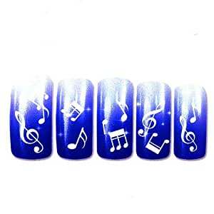 Stickers ongles notes de musique