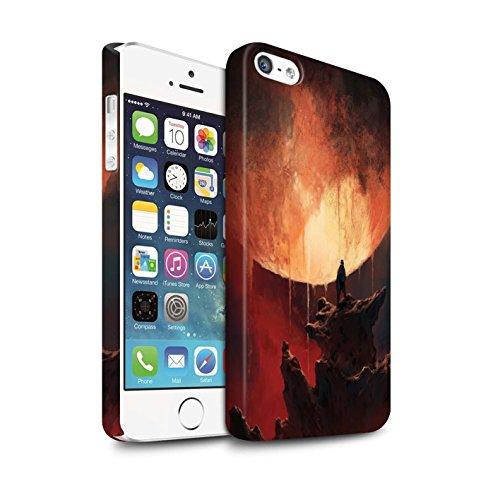 Offiziell Chris Cold Hülle / Matte Snap-On Case für Apple iPhone SE / Pack 12pcs Muster / Fremden Welt Kosmos Kollektion Schmelzen Sonne