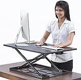 Table Jack Convertitore da scrivania con supporto regolabile - 32 X 22 pollici, Convertitore da scrivania Extralarge regolabile in altezza, che può fungere come supporto per un setup a doppio monitor
