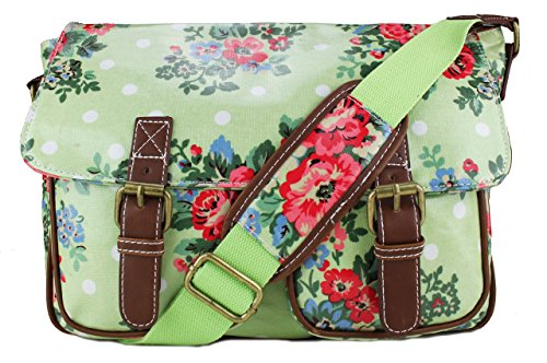 Miss Lulu, Borsa a spalla donna Medium (Medium Flower Light Green)