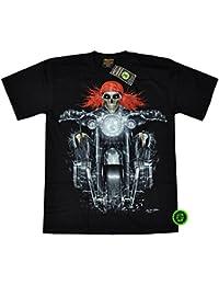 """T-Shirt Rock Chang """"Glow in the dark"""" Chang Heavy Metal Biker Tattoo Rocker Gothic (4018)"""
