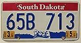 USA Nummernschild SOUTH DAKOTA ~ US Kennzeichen Motiv: Köpfe ~ Blechschild