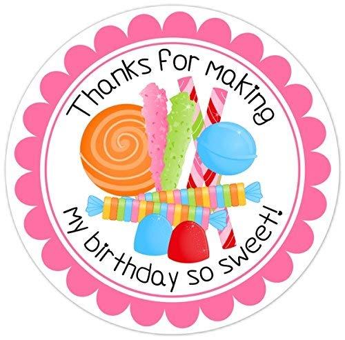 urtstags-Aufkleber, Candyland Geburtstags-Etiketten, Briefumschlag-Aufkleber, Partygeschenke, Tüten ()