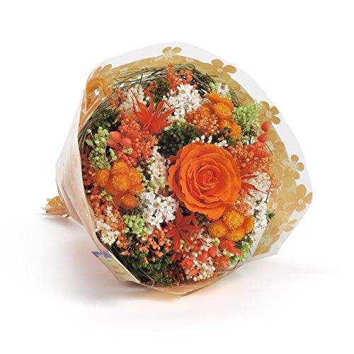 Galleria fotografica Bouquet Garden (Arancio).  Sanremo fiori essiccati dalla Riviera dei Fiori con rosa stabilizzata