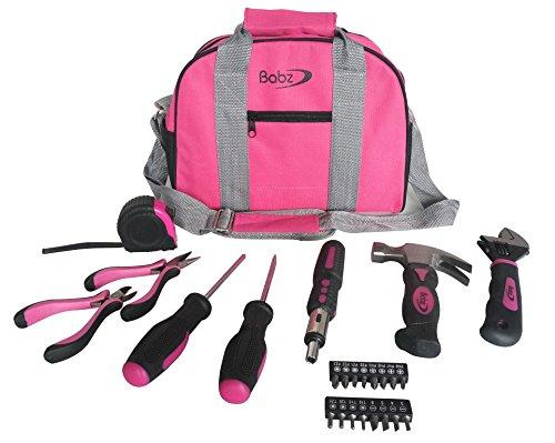 kit-doutillage-de-babz-sac-de-transport-marteau-pinces-tournevis-rose-25pcs