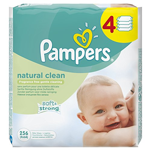 Pampers Natural Clean Wipes – 12 x Packs of 64 51OLUtMiW6L