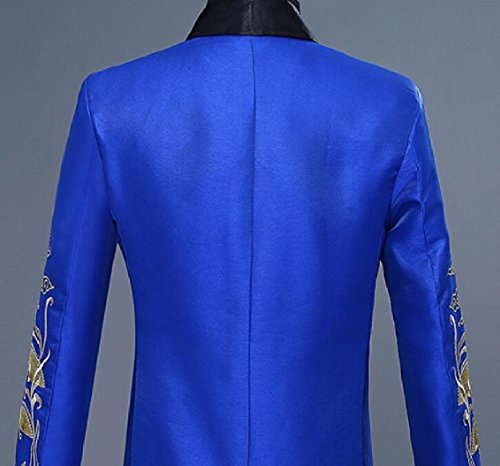 Gocgt Men Floral Blazer Jacket Embroidered Nightclub Performance Costume 1 M