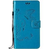 Huawei Honor 5A / Y6 II Hülle, Huawei Honor 5A / Y6 II Case,Cozy Hut Schmetterling Muster Kunstleder Ledertasche... preisvergleich bei billige-tabletten.eu