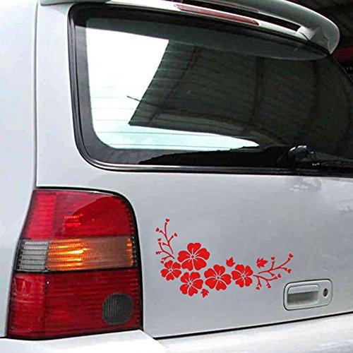 Jkhhi Auto Aufkleber Zarte Fliegende Blume Jkhh Autoaufkleber Auto Autotattoo Muster LKW Haube Seite Stiker Für Car -