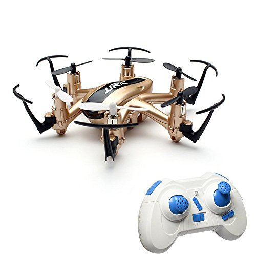 JJRC H20 RC Drone Quadrocopter 2.4GHz mit 4 Kanal, 6 Achsen Gyro, 3D-Go off the rumbling end,kopflos - modus (Yellowish)