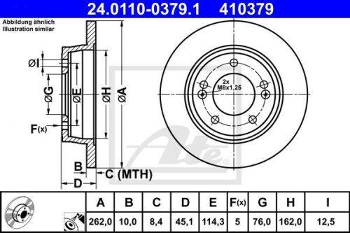 Preisvergleich Produktbild 2 Stck ATE-Bremsscheiben