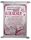 Natali Traders Farewell Gift for Teachers - Teacher Scroll Card