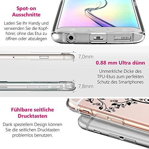 EGO® Double Touch Case komplette TPU Silikon Hülle für iPhone 5 5S SE 360 ° Grad vorne hinten Beidseitiger Schutz Full Handy Tasche transparent Front Back doppelseitig Motiv 4