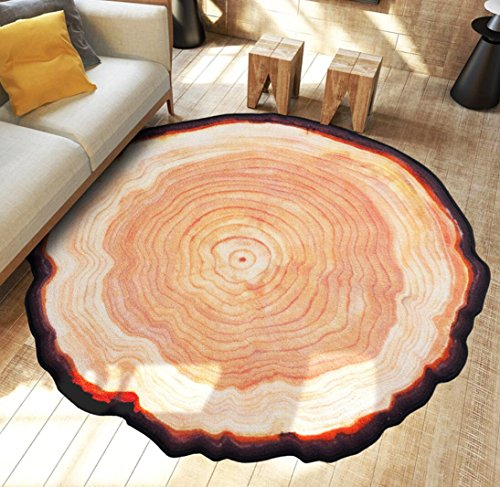 Old Tree Anello Anello Circolare Moquette Camera da letto Home Area Tappeti Computer Materassi Sedia , 80x80cm