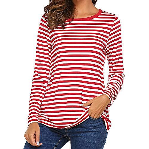 Camiseta Mujer,Mujeres Manga Larga Cuello Redondo