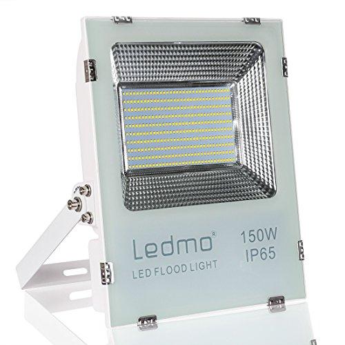 LEDMO Foco Proyector 150W Foco Led , 2835 14850LM Super brillante focos led , Blanco de fundición a presión shell, 6000K focos led exterior,IP65 exterior Impermeable Floodlight led