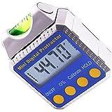 Medidor de ángulos transportador de ángulos de gran calibre biselado caja amperímetro con registro de nivel inclinómetro
