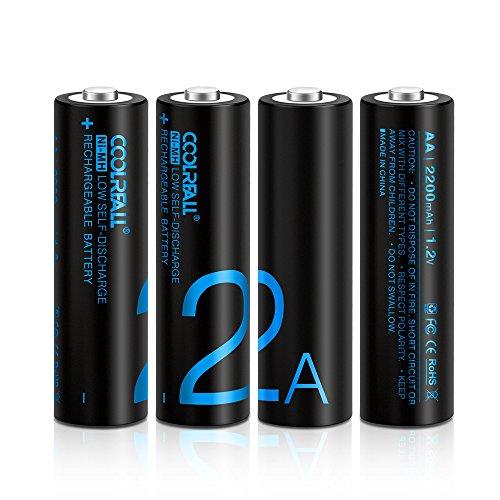 Batterie Ricaricabili,Coolreall Pile Ricaricabili AA...