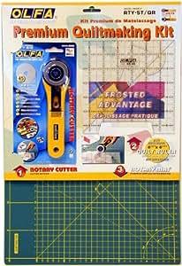 Olfa Rty-St/ Cg 45mm Rotary Cutter/ Self Healing Mat/ Quilt Ruler Making Set