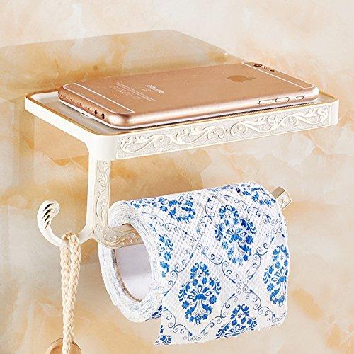 Toilettenpapierhalterung,Edelstahl-bad-gewebe-halter Mit Handy-speicher-regal-wandhalterung Wipes Halter/Dual Paper Towel (Steel Man Of Brille)