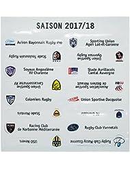 Ligue Nationale de Rugby - Set d'actualisation du tableau magnétique de classement LNR saison 2017/18