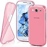 OneFlow Schutzhülle für Samsung Galaxy S3 / S3 Neo Hülle Silikon Case aus 0,7mm dünnem TPU | Zubehör Cover zum Handy Schutz | Handyhülle Bumper Tasche Durchsichtig Transparent in Pink