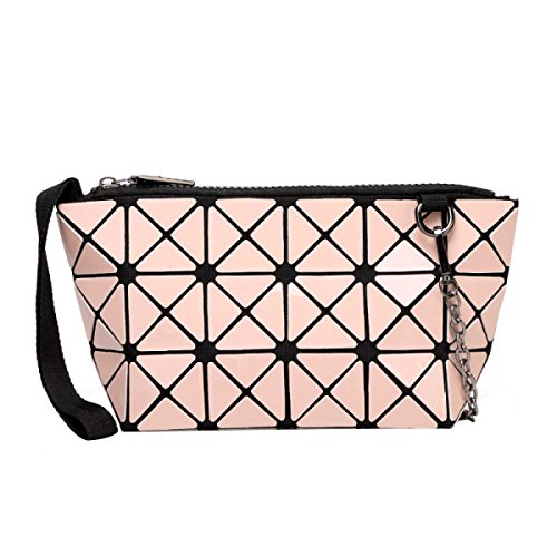 Busta Borsa Pieghevole Sacchetto Del Telefono Geometrica Delle Donne Pink