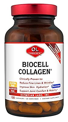 Olympian Labs Biocell Collagen (1500mg Per Serving, 100 Capsules) by Olympian Labs