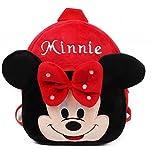 KIDDYBO Sac à Dos Enfant bébé Fille garçon crèche école Maternelle Cartable Animaux (Minnie Rouge)