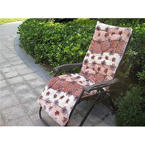 Lay imbottita Sedie Pieghevoli Fujitake Mogano pezzo divano cuscino schienale sedia a dondolo cuscini, 6, 160cm